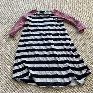 Matilda Jane 435 striped dress multi color button